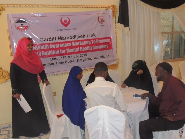 Mental Health Training session in Hargeisa for the staff of Mental Health providers